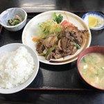 ニュー長田屋 - 焼肉定食=980円