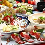 馬肉料理  馬勝蔵 - 当店おススメのコースです。 ご接待でも、県外のお客様にも必ず喜ばれる豪華なコースです。全9品