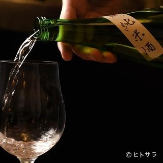ワイングラスで日本酒を提供