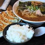 栄福 - ラーメンランチ(ラーメン・餃子・ライス)