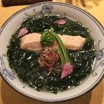 饗 くろ喜 - わかめそば2018第4弾「桜マスとわかめの塩そば」1500円