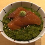 饗 くろ喜 - 「めかぶご飯~桜マスの漬け入り~」300円
