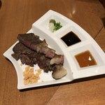 勇気凛々 - 京都牛のステーキ だったかな。