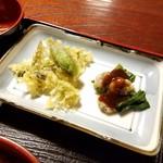 玉田屋旅館 - 「ふきのとう天ぷら」と「あさりのぬた」