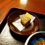 玉田屋旅館 - デザートのわらび餅