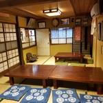 玉田屋旅館 - 食事する居間の様子