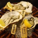 酒亭 道や - 牡蠣食べ比べ