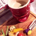 三ノ宮鉄板バル CHOUETTE - 焼き野菜のバーニャカウダ