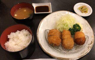 すゞ家 赤門店 - ヒレカツ&カニコロッケ定食