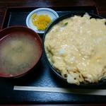 橋詰屋食堂 - 料理写真:「卵かけ天丼」