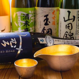 料理のお供に。日本酒や焼酎が充実の品揃え