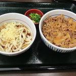 なか卯 - NEW!!2011.06 和風牛丼と冷やし小うどん