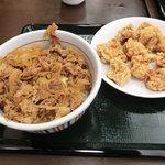 なか卯 - NEW!!2011.06 和風牛丼特盛と唐揚げ10個