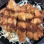 資さんうどん - チキンソースカツ丼アップ