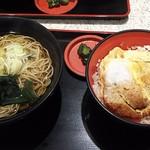 名代 富士そば - かつ丼セット(税込み720円)