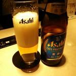 焼肉 牛之助 - 瓶ビール(¥680、税別以下同)