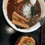 こころ - 黒胡麻 担々麺、かき揚げ丼