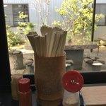 釜あげうどん 長田 in 香の香 - 中庭でも食べれます
