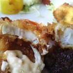 米常 - 魚フライとエビフライ断面