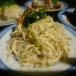 楽関記 - 干し豆腐と豆もやしと春雨と香菜の和え物(コース料理)