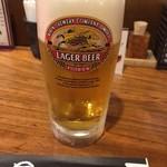 丸万焼鳥 - 生ビール