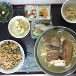 道のそば - 沖縄そば定食 700円