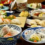 たまや本店 - 懐石料理7,500円(税別)