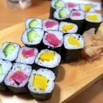 や台ずし - 料理写真:巻物三色
