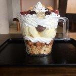 ほっこりの湯 - 料理写真:いっぱい×2パフェ  重量 0.95kg   高さ 16㎝  ¥1500