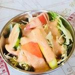 インド料理 ドルーガ - セットのサラダ