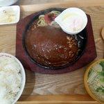 しげのや食堂 - こちらはジャンボハンバーグ定食