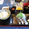 釧ちゃん食堂 - 料理写真:イワシ刺身定食(750円)