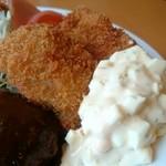 洋食Cucina - タルタルに抱かれたカキフライ