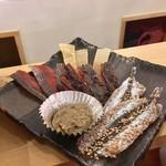 伏水酒蔵小路 - 海鮮五種盛り!