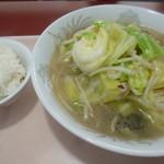 らーめん ばんらい - '18/03/24 タンメンセット(税込810円)