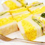 サンドウィッチ ルマン - 食べやすいサイズのエッグサンド♪