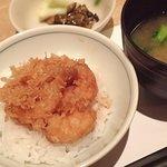 天ぷら新宿つな八 - 菜彩膳;ラストの掻揚げを〆の小天丼にして貰いました(^^)v @2018/02/22