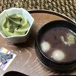 茶乃芽 - 北海道産小豆使用 白玉ぜんざいセット 税込600円