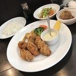 文化洋食店 - カキフライランチ1200円+カニコロのっけ500円