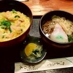 かやの木 - 親子丼+ミニ蕎麦セット