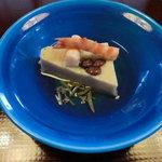 鶯啼庵 - 先付・自家製胡麻豆腐