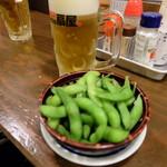 やきとり本陣串や - 食べ放題の枝豆(100円)