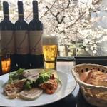 グローブカフェ - 前菜と桜