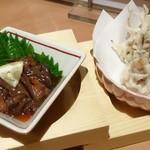 玉乃光酒蔵 - ホタルイカづくしの沖漬けと天ぷら