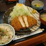 とんかつ 藤よし - 110609 満腹ロースカツ定食180g