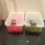 麺や結 - 紅ショウガと高菜
