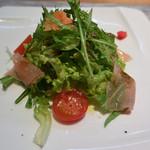 まるた生簀どころ - 料理写真:前菜(野菜と生ハムの柚子ドレッシング掛け)
