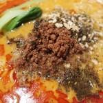 83003447 - 肉味噌は挽き肉が細かい感じで麺に良く絡みます!