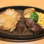 ステーキ宮 - 料理写真:チキン&ひとくちてっぱん1480円