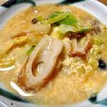 片山蒲鉾店 - ちくわ(キャベツと卵とじにしました)